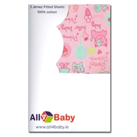 All4Baby 2 Pack Crib Fitted Sheet Princess
