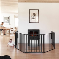 BabyDan Olaf XXX Wide Hearth Gate/ Room Divider Black