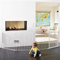 BabyDan Olaf XXX Wide Hearth Gate/ Room Divider White