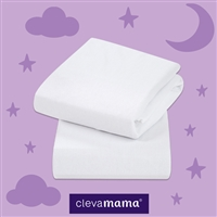 Clevamama Jersey Cotton Fitted Sheets Moses/Pram