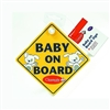 "Clippasafe ""Baby on Board"" / ""Child on Board"" Sign"