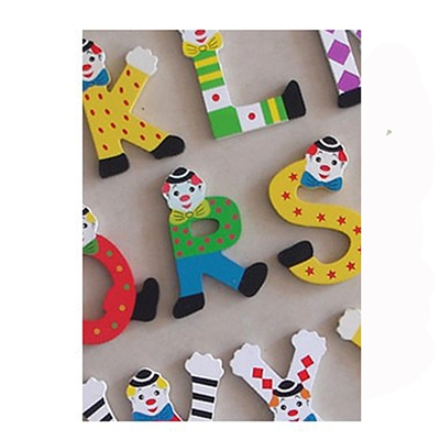 Clown Letter and Number Magnets