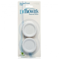 Dr Brown's Storage Travel Caps for all Wide Neck Bottles (2 Pack)