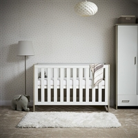 Nika Cot Bed - Grey Wash & White