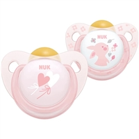 NUK Baby Rose & Blue Latex Soother 0-6m 2Pk (Rose)