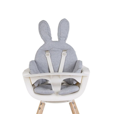 Childhome Rabbit Highchair Cushion Jersey Grey