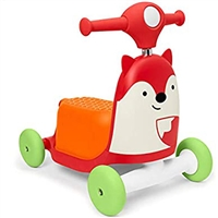 Skip Hop Zoo 3-In-1 Ride On Toy Fox
