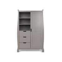 Obaby Stamford Double Wardrobe Taupe Grey