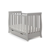 Obaby Stamford Mini Sleigh Cot Bed Warm Grey