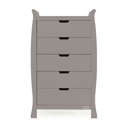 3363a1781d07 Obaby Stamford Tall Chest of Drawers Taupe Grey available online and  instore at All4Baby.