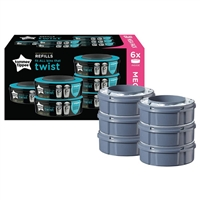 Tommee Tippee Sangenic Refill Cassettes for all bins that Twist 6 pack