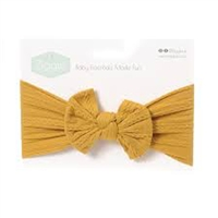Ziggle Mustard Top Bow Turban Headband