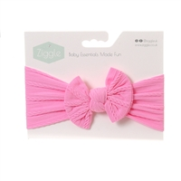 Ziggle Bright Pink Top Bow Turban Headband