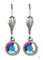 Anne Koplik  Iridescent Swarovski Crystal Simple Drop Earrings
