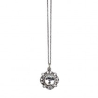 Anne Koplik Silver Million Dollar Baby Pendant with Clear Swarovski Crystals