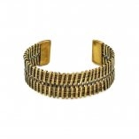 Banjara Basketweave Cuff - Brass