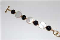 Charles Albert Alchemia Mother of Pearl and Black Onyx Bracelet