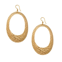 Alchemia Oval Hammered Earrings