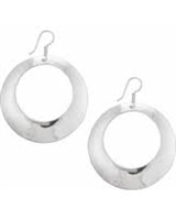 Sterling Silver High Polished Round Earrings