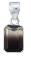Sterling Silver Bi Color Quartz Pendant