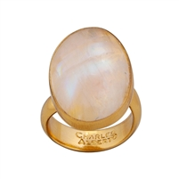 Charles Albert Alchemia Rainbow Moonstone Ring