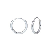 Hoop Earrings Sterling Silver