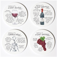 Wine Anatomy Coaster Set