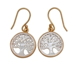 Charles Albert Alchemia Mother of Pearl Tree of Life Earrings