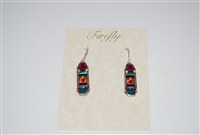 Firefly Straight Element Earrings in Multi Colored