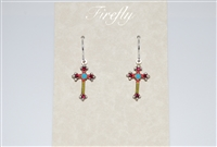 Firefly Cross Earrings