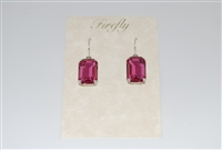 Firefly Emerald Cut Swarovski Crystal Earrings