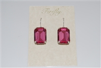 Firefly Large Emerald Cut Swarovski Crystal Earrings