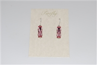 Firefly Small Rectangular Cut Swarovski Crystal Earrings