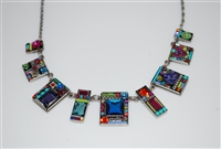 Firefly Geometric Collection - Multi Colored Statement Necklace