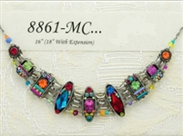 Milano Collection - Multi Colored Collar Statement Necklace