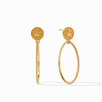 Julie Vos Coin Statement Earrings