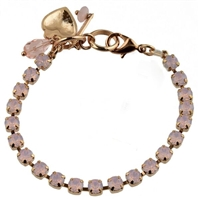 "Mariana 8"" Rose Water Swarovski Crystal Tennis Bracelet Rose Gold Plated"