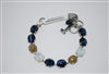 "Mariana 8"" One of a Kind, Statement Bracelet from the Mood Indigo Collection in 925 Silver Plated"
