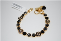 "Mariana 8"" Statement Bracelet from the Adeline Collection with Swarovski Crystal and Yellow Gold Plated"