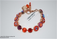 "Mariana 8"" Statement Bracelet from the Lady Marmalade Collection with Swarovski Crystals and Rose Gold Plated"