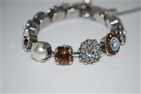 "Mariana 8"" Statement Bracelet from the Champagne and Caviar Collection with Swarovski Crystals and .925 Silver Plated"