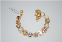 "Mariana 8"" Statement Bracelet from the Kalahari Collection with Swarovski Crystals and Yellow Gold Plated"