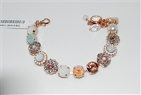 "Mariana 8"" Statement Bracelet from the Sweet Pea Collection with Swarovski Crystals and Rose Gold Plated"