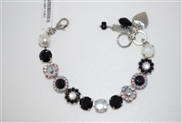 "Mariana 8"" Statement Bracelet from the Blizzard Collection with Swarovski Crystals and Rhodium Plated"