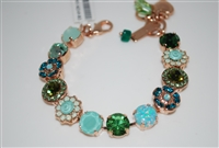 "Mariana ""Sophia"" 8"" Statement Bracelet from the Fern Collection with Swarovski Crystals and Rose Gold Plating"