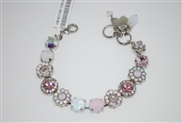 "Mariana 8"" Statement Necklace from the Snowflake Collection with Swarovski Crystals and Rhodium Plated"