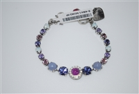 "Free Earrings with this Mariana 8"" Purple Rain Collection Swarovski Bracelet and .925 Sterling Silver Plated"