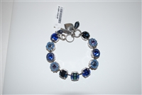 "Mariana ""Sophia"" 8"" Statement Flower Bracelet from the Electra Collection with Swarovski Crystals and .925 Silver Plated"