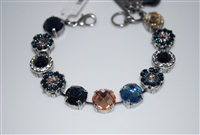 "Mariana ""Sophia"" 8"" Statement Flower Bracelet from the Ocean Collection with Swarovski Crystals and .925 Silver Plated"
