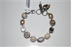 Mariana Kalahari Statement Bracelet from the Kalahari Collection with Swarovski Crystals and .925 Silver Plated